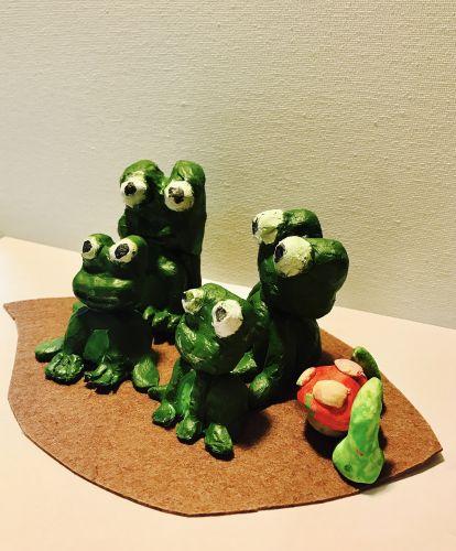 Ritvik Patra, 9 years old, CA, 3D frogs