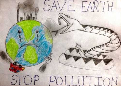 Stop Pollution by Arnav Gandhi, 11 years old, India