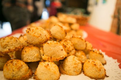 Chef Camillo Sabella's macaroons at Frogs Are Green's Green Dream - Save the Frogs Day event at The Distillery Gallery. Photo by Danny Chong.
