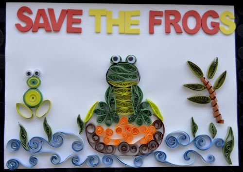 Honorable Mention, Dhanvi Sayani, Dubai, UAE, Frogs Are Green Kids Art Contest - Ages 7-9