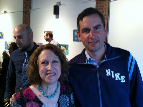 Susan Newman and Mayor Steven Fulop talk about saving frogs!