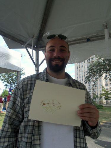 Man creates frog art at WPLIVE