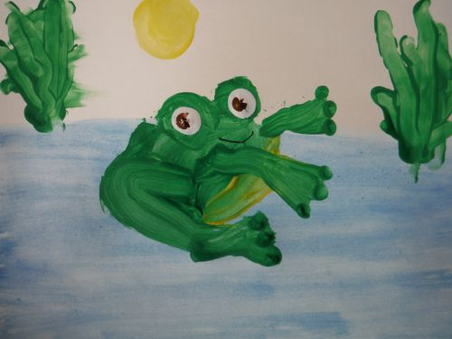 Honorable Mention Jessen Whelchel, California, Frogs Are Green Kids Art Contest 2014, age 3-6 group