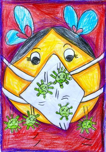 Adyaashree rout, 6 years old, India, earth day 2020, Covid 19