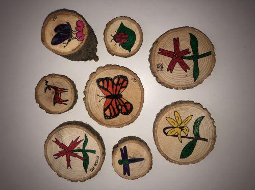 Nature art tree cookies by Brian and Brandy Bockhahn, Durham, NC.