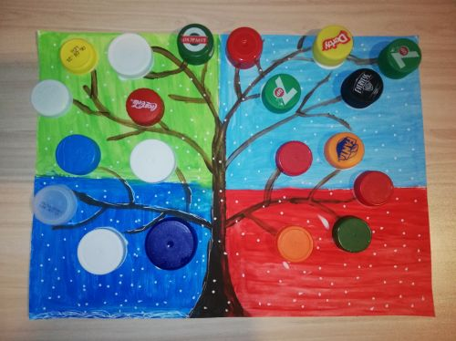 Pavel Pavlov, 12 years old, Bulgaria, art from recycled materials