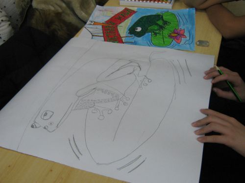 Serbia students learn about frogs and create art for Frogs Are Green Contests 2017