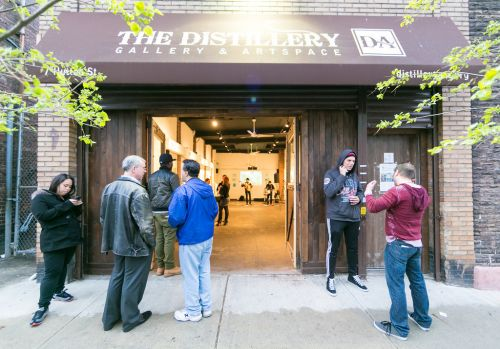 The Distillery Gallery and Artspace in Jersey City. Photo by Danny Chong.